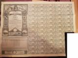 IMPRUMUTUL REINTREGIRII 5000 LEI 1941 55 CUPOANE CU BORDEROU DE PROPRIETATE, Romania 1900 - 1950