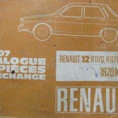 Catalog piese de schimb Renault 12, R1170, R1171, R1330, 1970-1972(Dacia 1300) - Manual auto