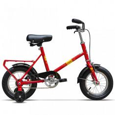 Bicicleta Pegas SOIM ROSU BOMBOANA CU ROTI AJUTATOARE - Bicicleta copii