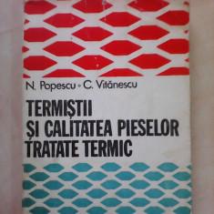 Termistii si calitatea pieselor tratate termic - N. POPESCU , C. VITANESCU