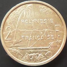 Moneda Exotica 2 Franci - POLINEZIA FRANCEZA (OCEANIA), anul 2004   *cod 4855