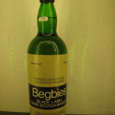 Whisky n. 22 -BEGBIES, BLACK LABEL RARE SCOTCH WHISKY  cl 75 gr 43 ANI 50/70
