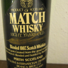 Whisky n. 12 -MATCH, BLENDED 100% SCOTCH WHISKY, cl 75 gr 43 YEARS 8 OLD  ANI 50