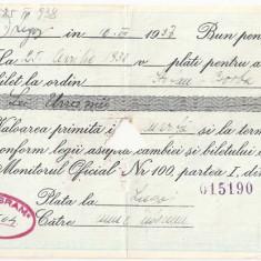 ROMANIA BILET LA ORDIN BP BUN PENTRU 1000 LEI 1938 TUNGSRAM - Bancnota romaneasca