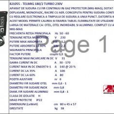 Aparat de sudura cu fir continuu TW821055