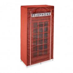 Dulap textil haine cu bara umerase-Cabina telefonica