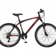 """Bicicleta MTB Umit Camaro Cadru 16"""" , 21 Viteze , Culoare Negru/Rosu, Roata 29""""PB Cod:29620160003"""