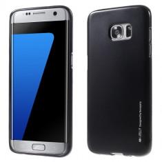 Husa Samsung Galaxy S7 Edge - Mercury i-Jelly Black, Gel TPU, Carcasa