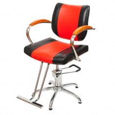 Scaun pentru frizerie Bolonia, piele ecologica, reglabil