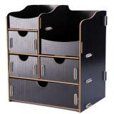 Organizator birou 1+3 sertare si 2 compartimente ‐ Lucy negru