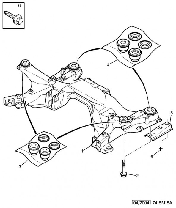 Kit Bucsi Cadru Motor Citroen C5 Ii Spre Spatepoz 4 Citroen Oe