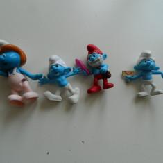 Set 4 figurine Strumfi, 4 strumfi, originali. McDonald, 2013, Papa Strumf - Figurina Desene animate, 4-6 ani, Unisex