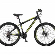 """Bicicleta MTB Umit Mirage Cadru 18"""" , 21 Viteze , Culoare Negru/Galben Roata 26""""PB Cod:26670180002"""