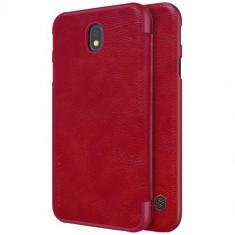 Husa Samsung Galaxy J7 2017 - Nillkin Qin Red, Piele Ecologica