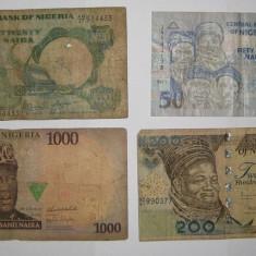 Colectie Africa lot 4 bancnote diferite Nigeria