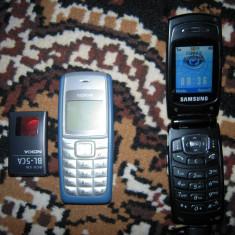Telefon mobil SAMSUNG SGH-X200 si NOKIA cu baterie epuizata, blocate VODAFONE - Telefon Samsung, Argintiu, Nu se aplica, Single SIM, Fara procesor