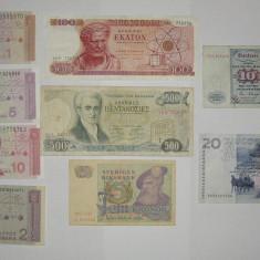 Colectie 9 bancnote Europa Germania Croatia Suedia 1967 1994, An: 1977