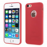 Husa iPhone 5 si 5S - ForCell Soft TPU Red, Gel TPU