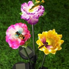 Decoratiune solara Floare cu Libelula - Clepsidra