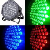 Led par proiector 36 LED x 3w fiecare led se aprinde orice culoare DMX Microfon