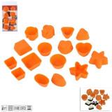 Forme de silicon pentru trufe de ciocolata sau mini briose; set de 16 buc