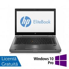 Laptop Refurbished HP EliteBook 8470p, Intel Core i5-3210M 2.50 GHz, 8GB DDR 3, 240GB SSD, DVD-ROM, 14 inch LED backlight + Windows 10 Pro - Server de stocare