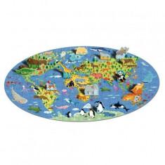 Puzzle Sassi Cunoaste si exploreaza - Lumea animalelor