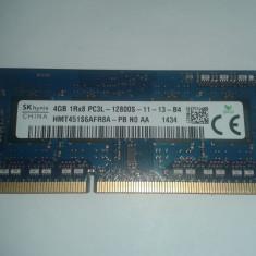 Vand Memorie Laptop Ram SK Hynix HMT451S6AFR8A-PB 4Gb DDR3 1600Mhz Pret 75 Lei - Memorie RAM laptop