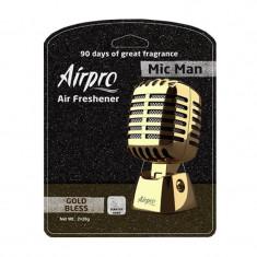 Odorizant tip microfon Mic Man Airpro, aroma Gold Bless - Odorizant Auto
