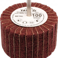 Perie abraziva circular cu tija 80x50x6 mm granulatie 150 YATO - Cosmetice Auto