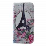 Husa Huawei P9 Lite 2017 - Flip Cover Eiffel Tower, Piele Ecologica, Cu clapeta