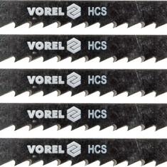 Set 5 panze pentru fierastru pendular lemn moale 6 TPI VOREL - Macheta Navala