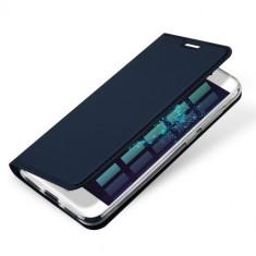 Husa Huawei P9 Lite 2017 - DUX DUCIS Book Type Blue, Piele Ecologica