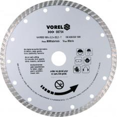 Disc diamantat turbo 180 mm VOREL