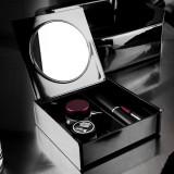 Cutie neagra make-up cu oglinda