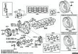 Coroana volanta motor 2,5 D-4D Toyota (Hi-Lux III) TOYOTA OE 13453-67030