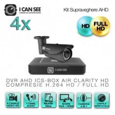 Kit AHD ICS-KU100-4LV, cu 4 camere ICSLV-UHD1000 + DVR ICS-BOX AIR CLARITY V3