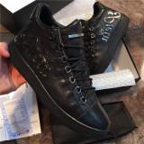 Sneakers barbatesti Philipp Plein - Super Promotie!!!, 44, Negru, Piele naturala, Philipp Plein