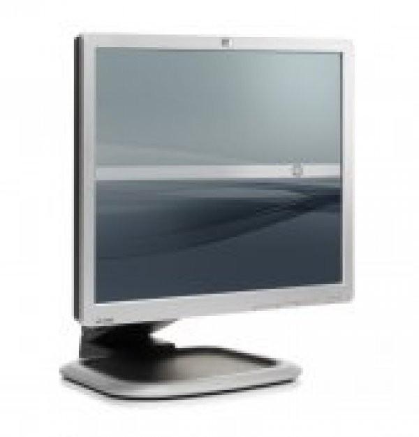 Monitor 19 inch LCD HP L1950, Silver & Black, Panou Grad B foto mare