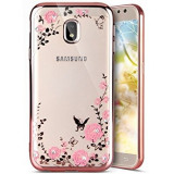 Husa Samsung Galaxy J7 2017 - Luxury Flowers Rose Gold, Silicon, Carcasa