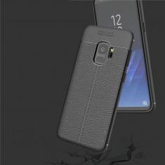 Carcasa de protectie Litchi Leather husa silicon TPU pt Samsung Galaxy S9