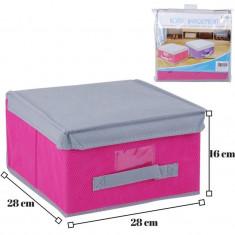 Cutie textila depozitare cu capac-roz - Accesoriu ATV