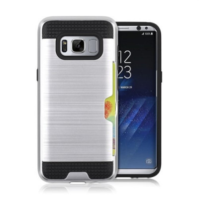 Husa Samsung Galaxy S8 - Hybrid Card Slot Silver foto
