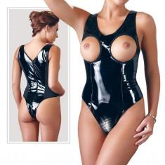 Body Femei Latex Look Boobs, Negru, L, S