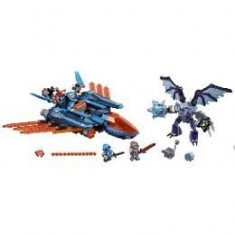 Lego Nexo Knights Avionul Falcon Blaster al lui Clay 8-14 ani (70351)
