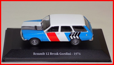 1974 - RENAULT 12 BREAK GORDINI (scara 1/43) ATLAS foto