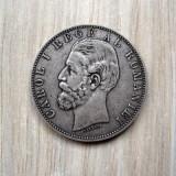 Moneda Argint 5 Lei 1883 Regele Carol I Romania