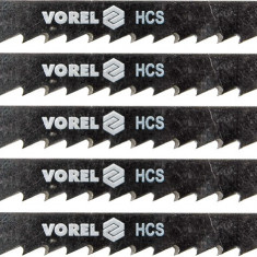 Set 5 panze pentru fierastru pendular lemn 8 TPI VOREL - Macheta Navala