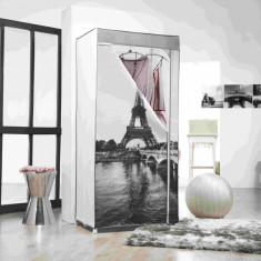 Dulap textil pentru haine si pantofi-Turn Eiffel