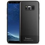 Husa Samsung Galaxy S8 Plus - iPaky Carbon Fiber Black, Gel TPU